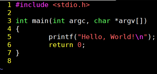programma hello world in C