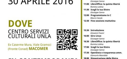 Programma definitivo LINUX PRESENTATION DAY